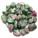 "Tumbled Ruby in Zoisite ""Anyolite"" (Tanzania) - Tumbled Stones"