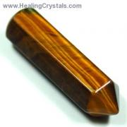 Wand - Golden Tiger Eye 6-Sided Massage Wands