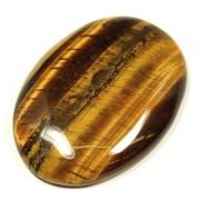 Golden Tiger Eye Worry Stone (India)
