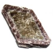 Zoned Bicolor Mica with Lepidolote (Mica w/Lithium)