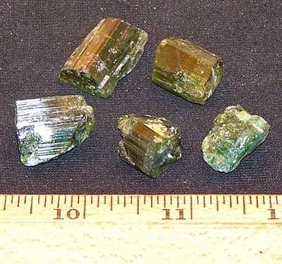 Tourmaline - Green Tourmaline Crystal Chips