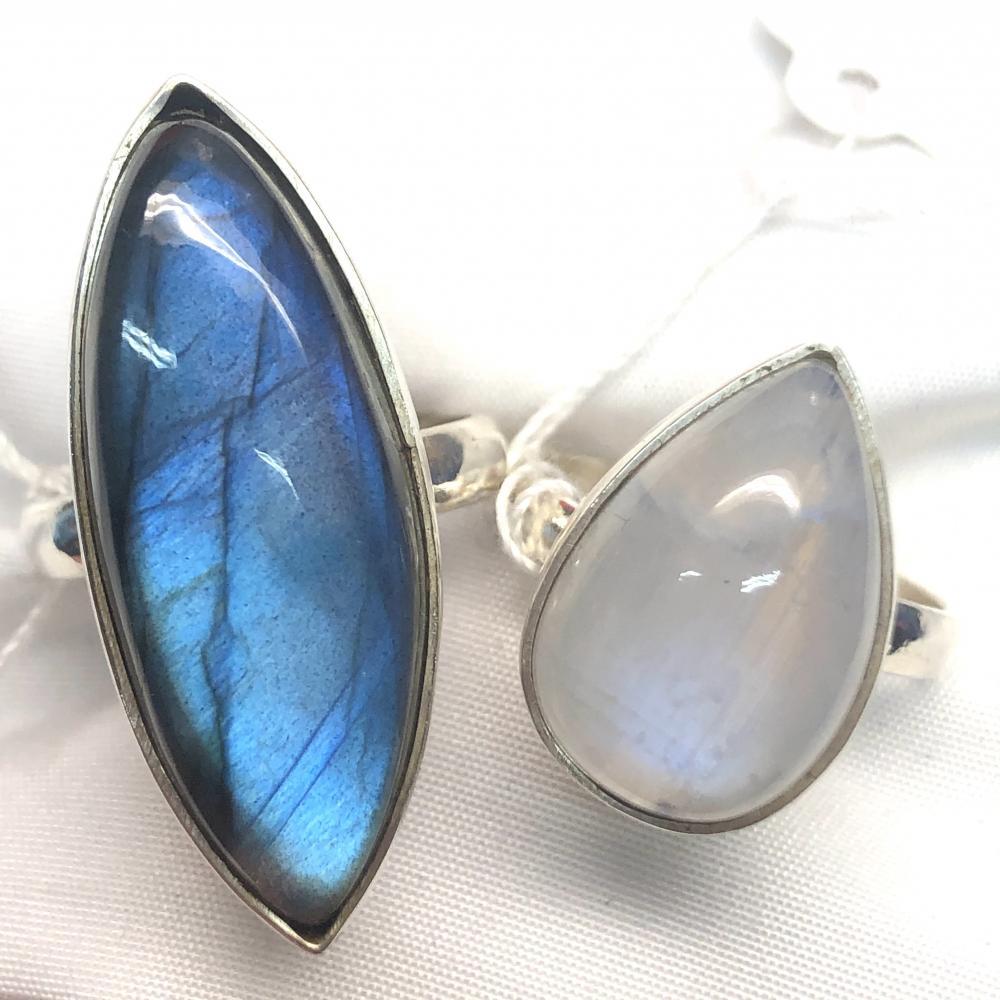 Cabochon Crystal Rings